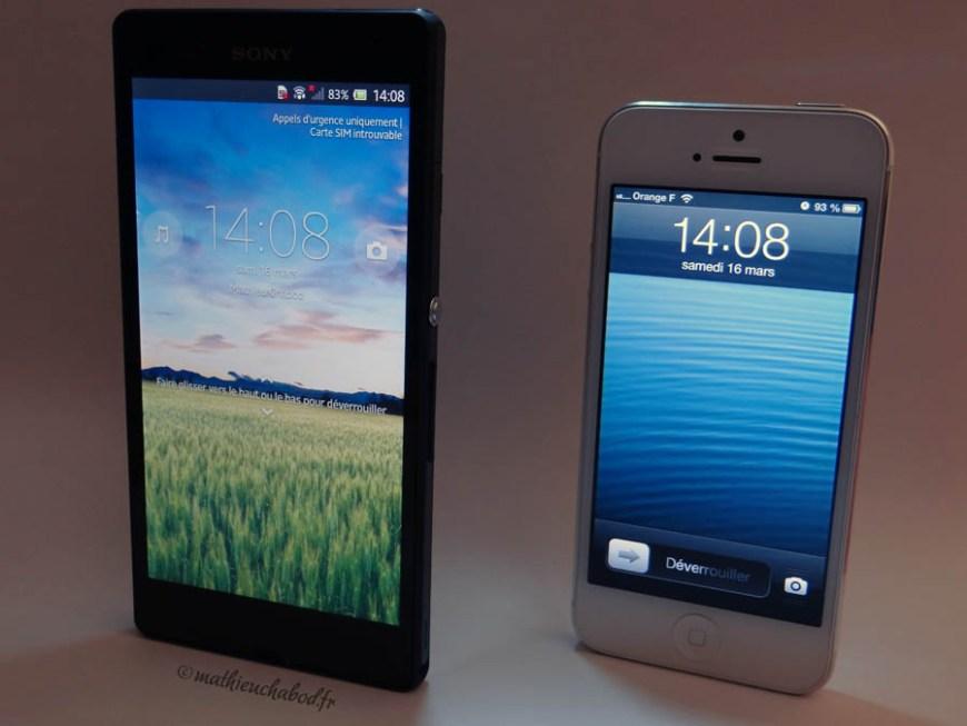 Xperia Z iPhone 5 mathieuchabod.fr