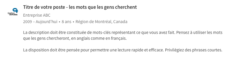 section profil du cv exemple etudiant