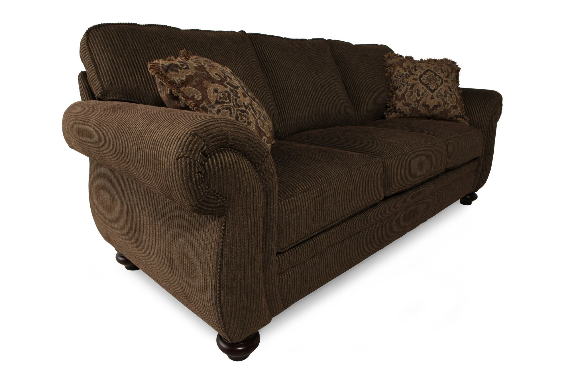Broyhill Brown Corduroy Sofa Traditional Corduroy 89