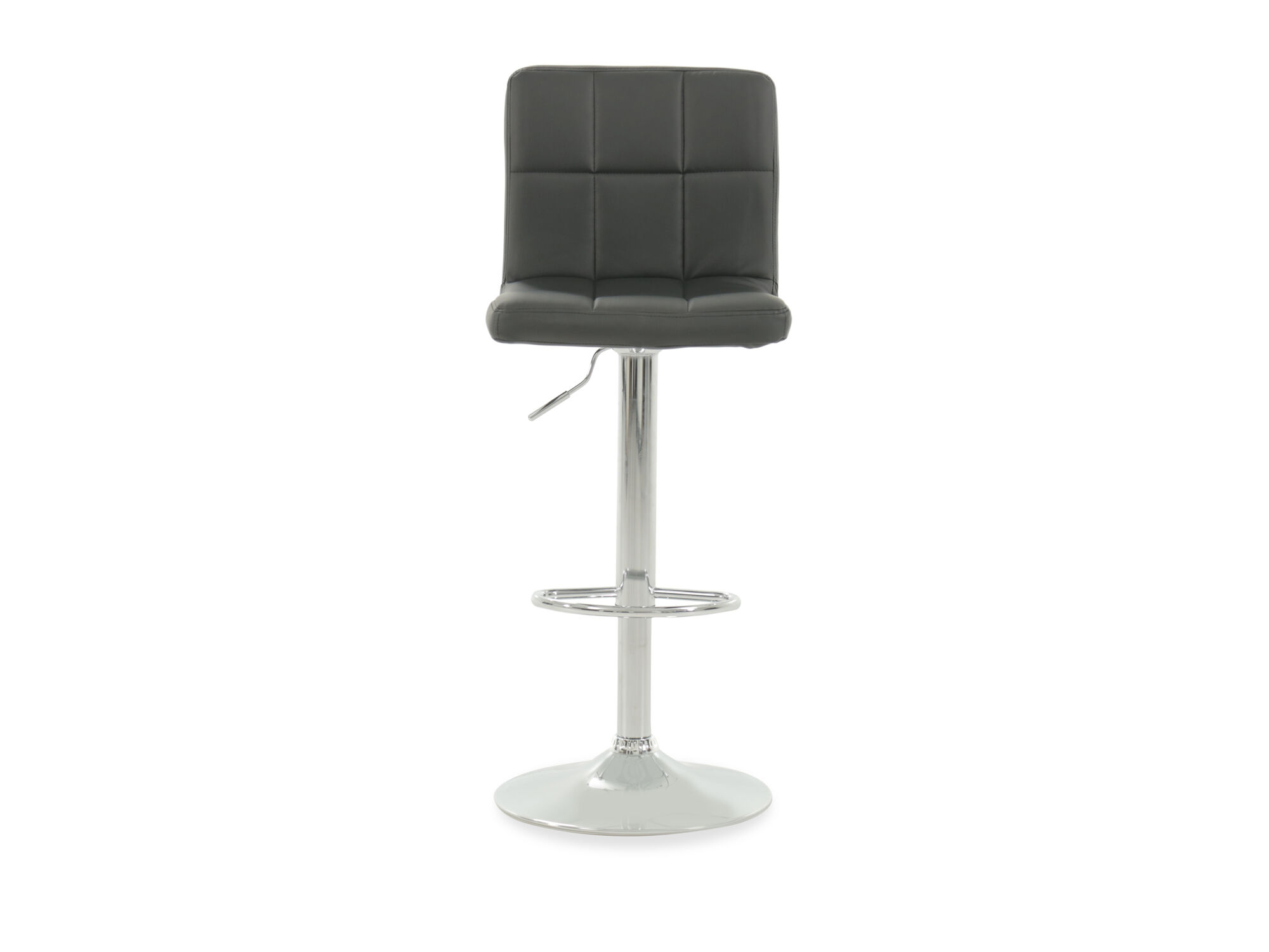 Contemporary Breakfast Bar Stools Contemporary 45 Quot Adjustable Swivel Bar Stool In Black
