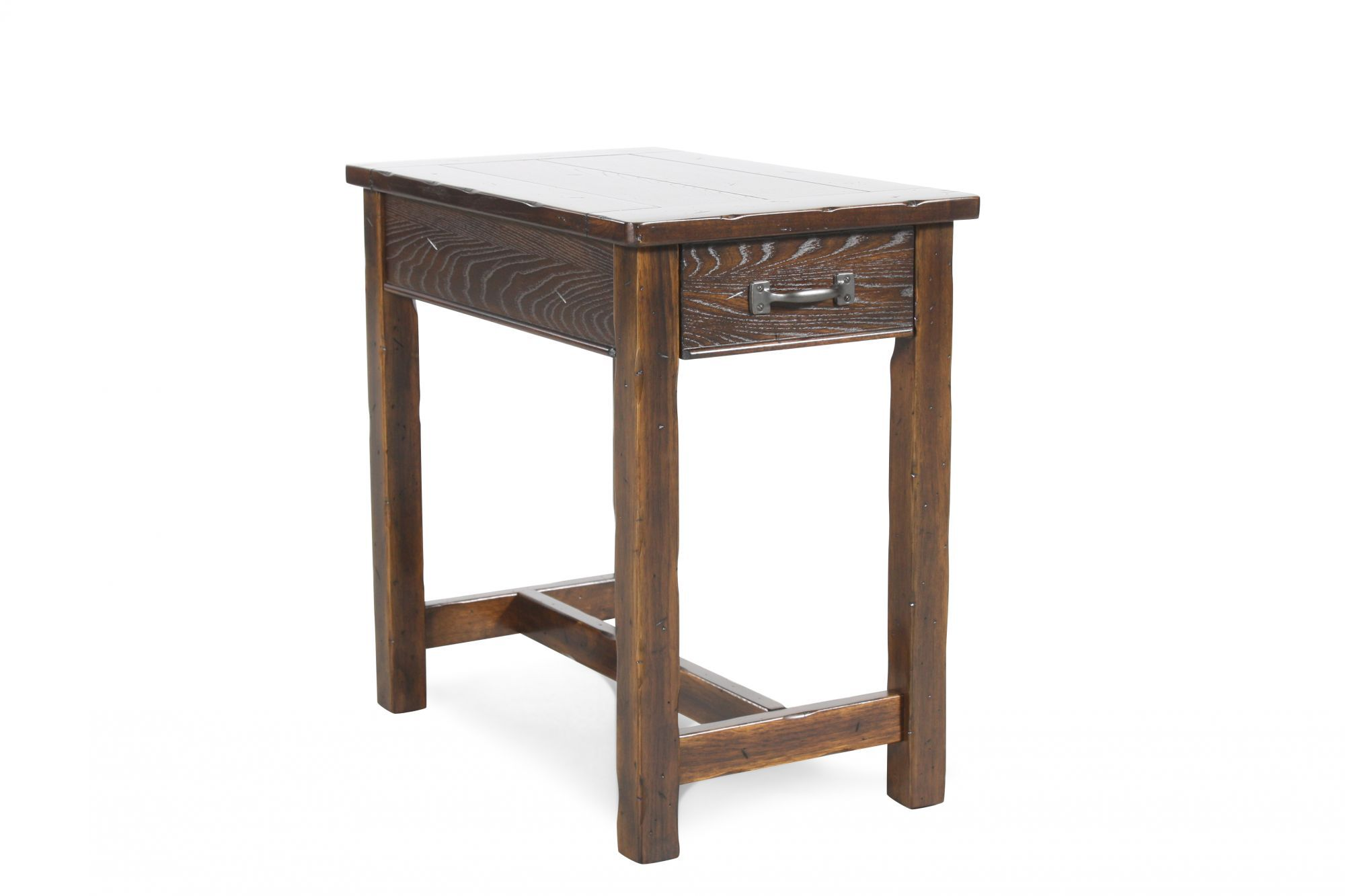 Modern Chairside Table Distressed Rectangular Contemporary Chairside Table In