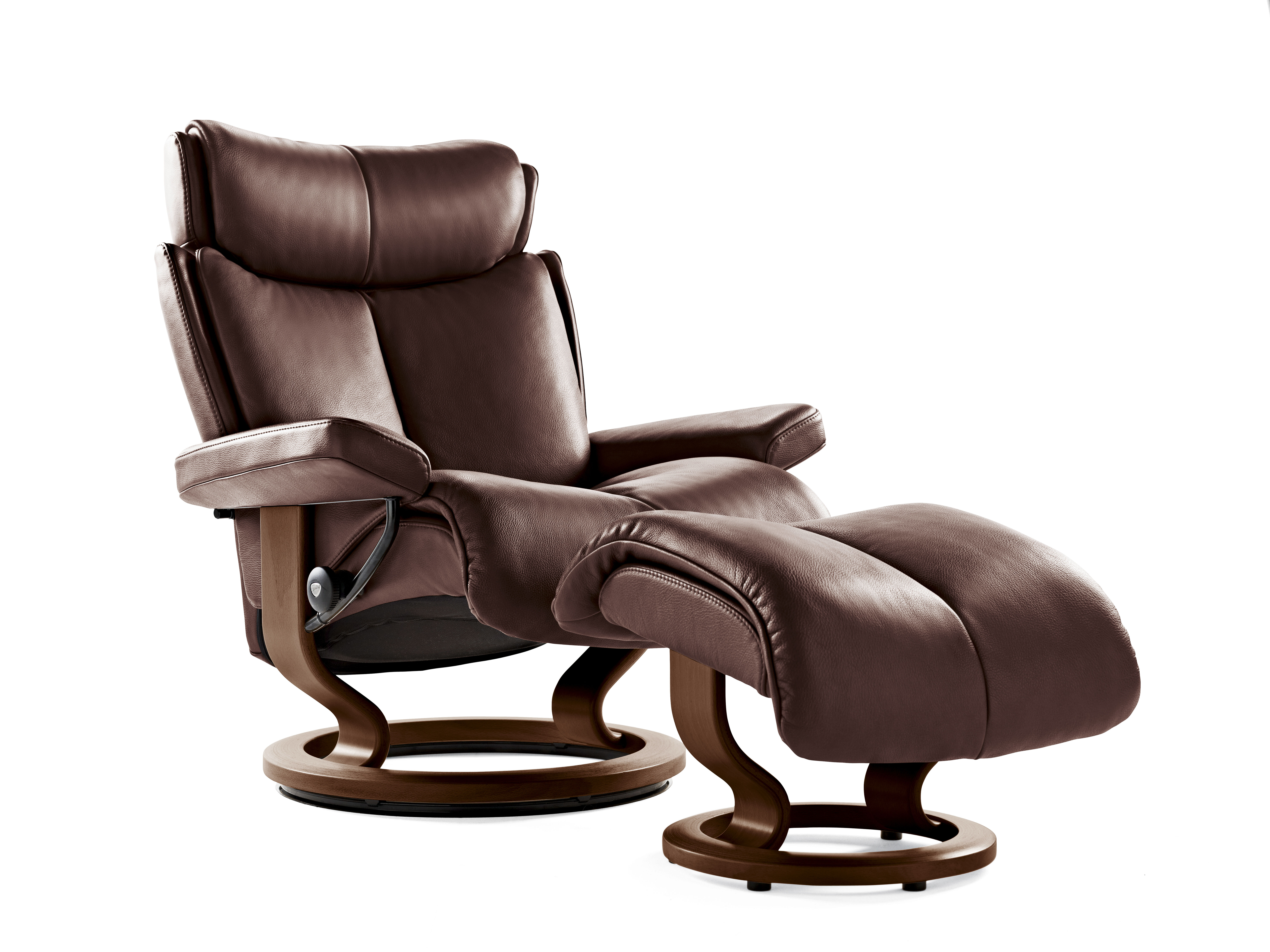 Wide Chair And Ottoman Contemporary Large Swivel Chair And Ottoman In Chocolate
