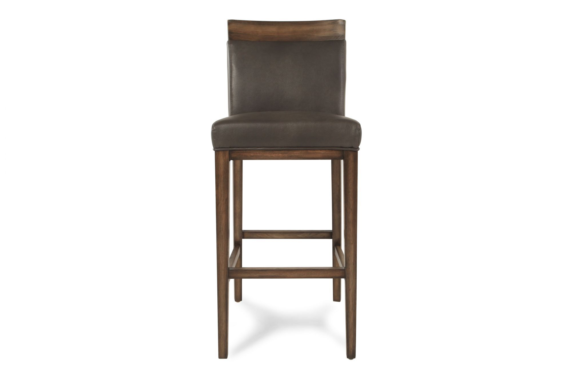 Contemporary Bar Stools Leather Contemporary Bar Stool In Gray Mathis Brothers