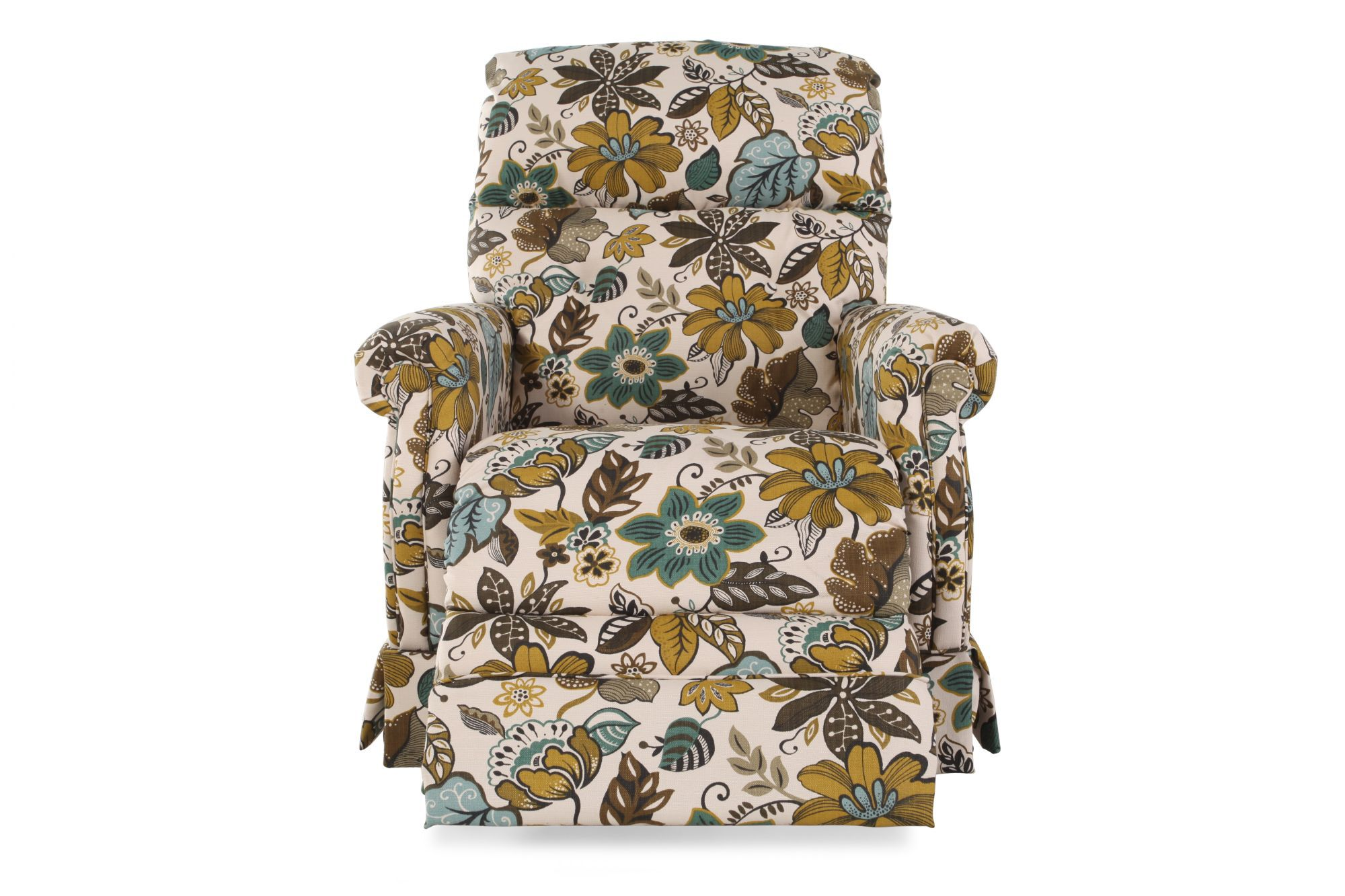 Chaise Z Floral Patterned Skirted Chaise Recliner Mathis Brothers Furniture