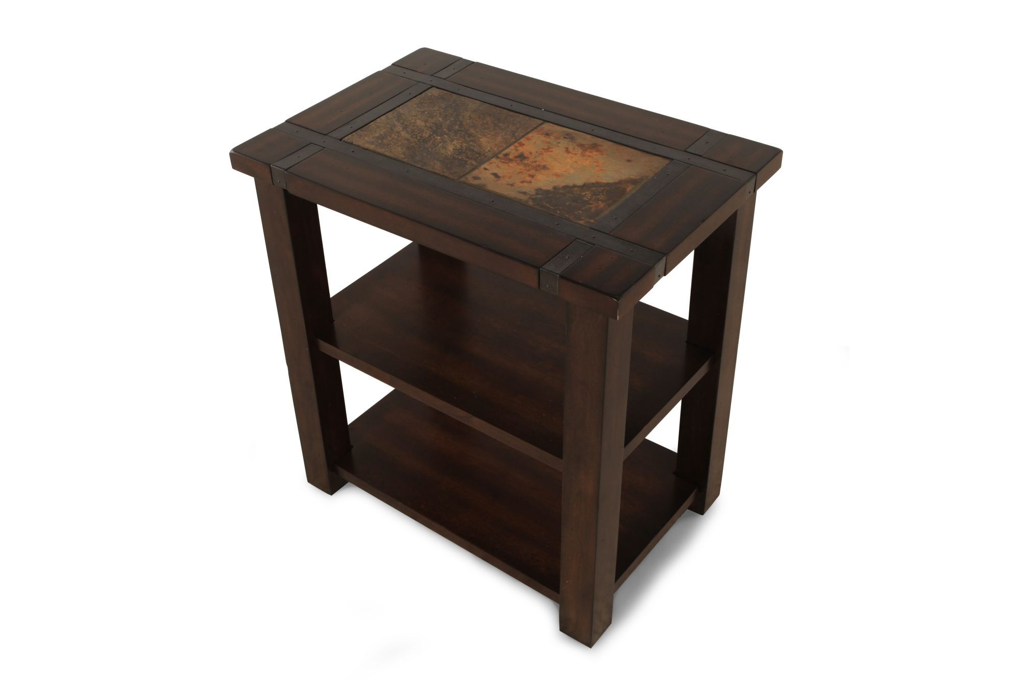 Modern Chairside Table Square Contemporary Chairside Table In Medium Brown