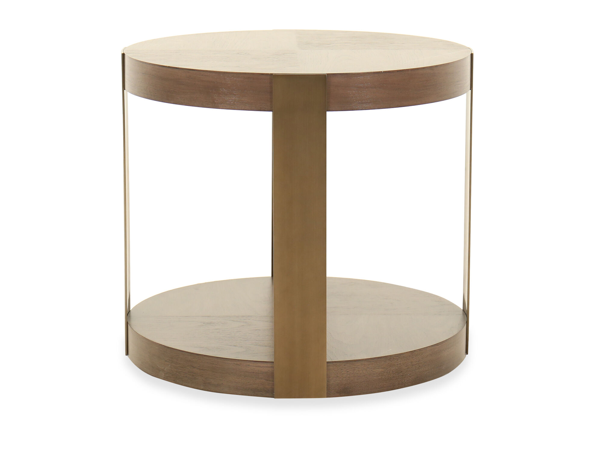 Modern Chairside Table Modern Round Chairside Table In Brown Mathis Brothers