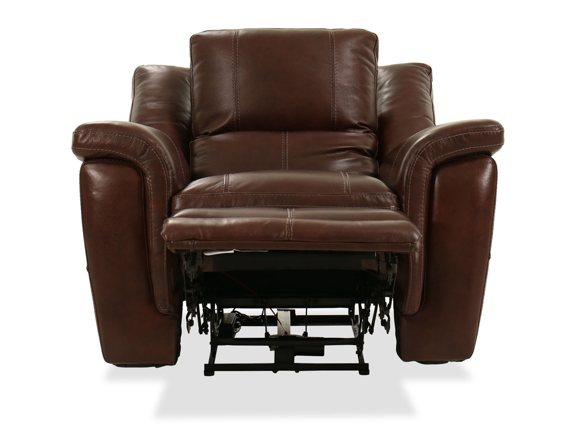 Electric Recliner Leather Chairs Leather Power Recliner In Brown Mathis Brothers Furniture