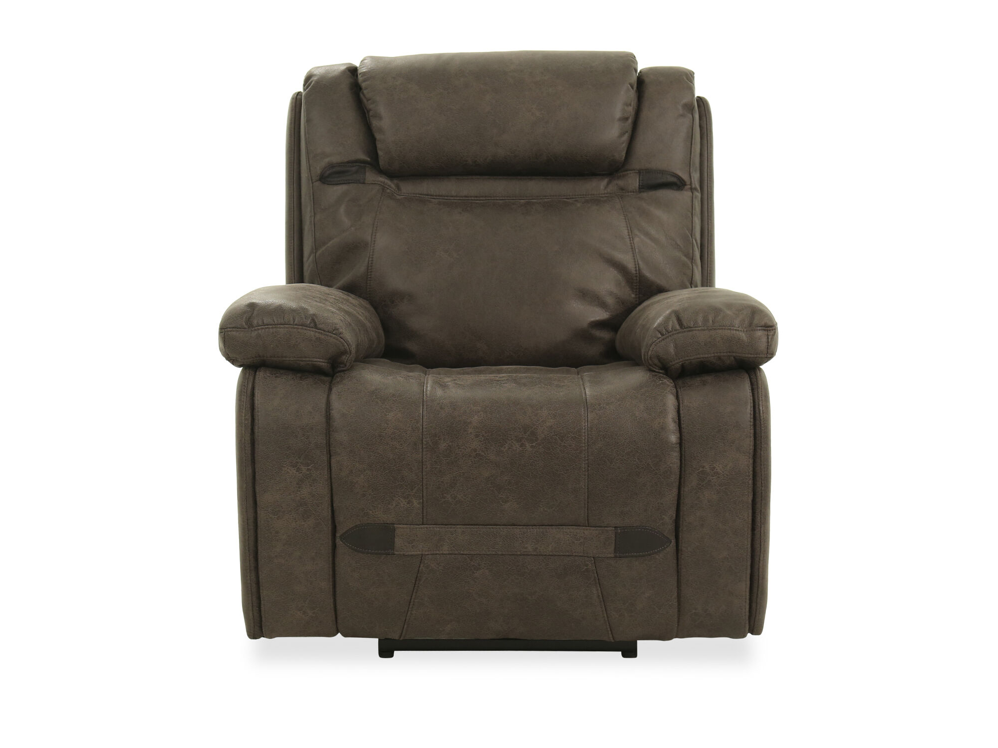 Electric Recliner Leather Chairs Leather 39 Power Recliner In Grey Mathis Brothers Furniture