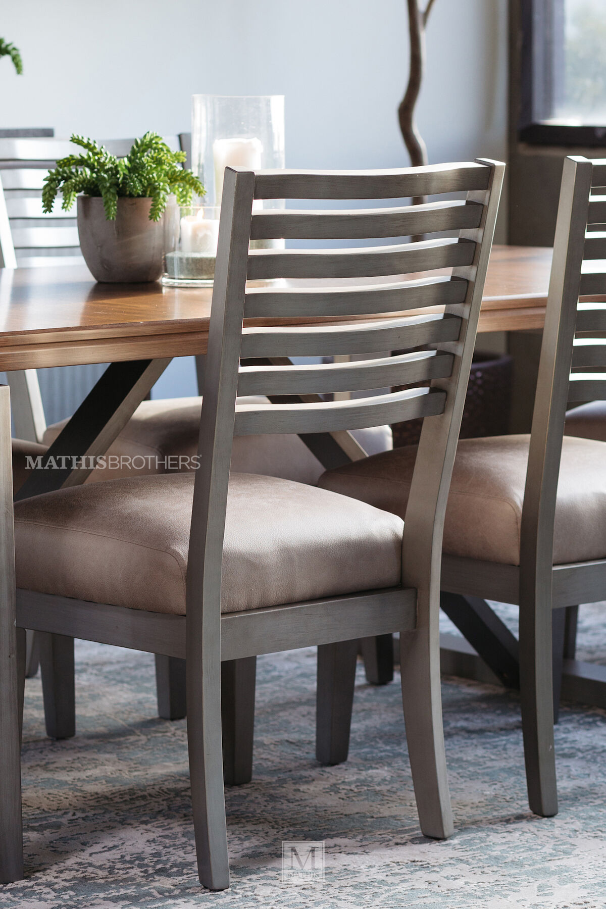 Modern Dining Set Seven Piece Modern Dining Set In Cream Mathis Brothers Furniture