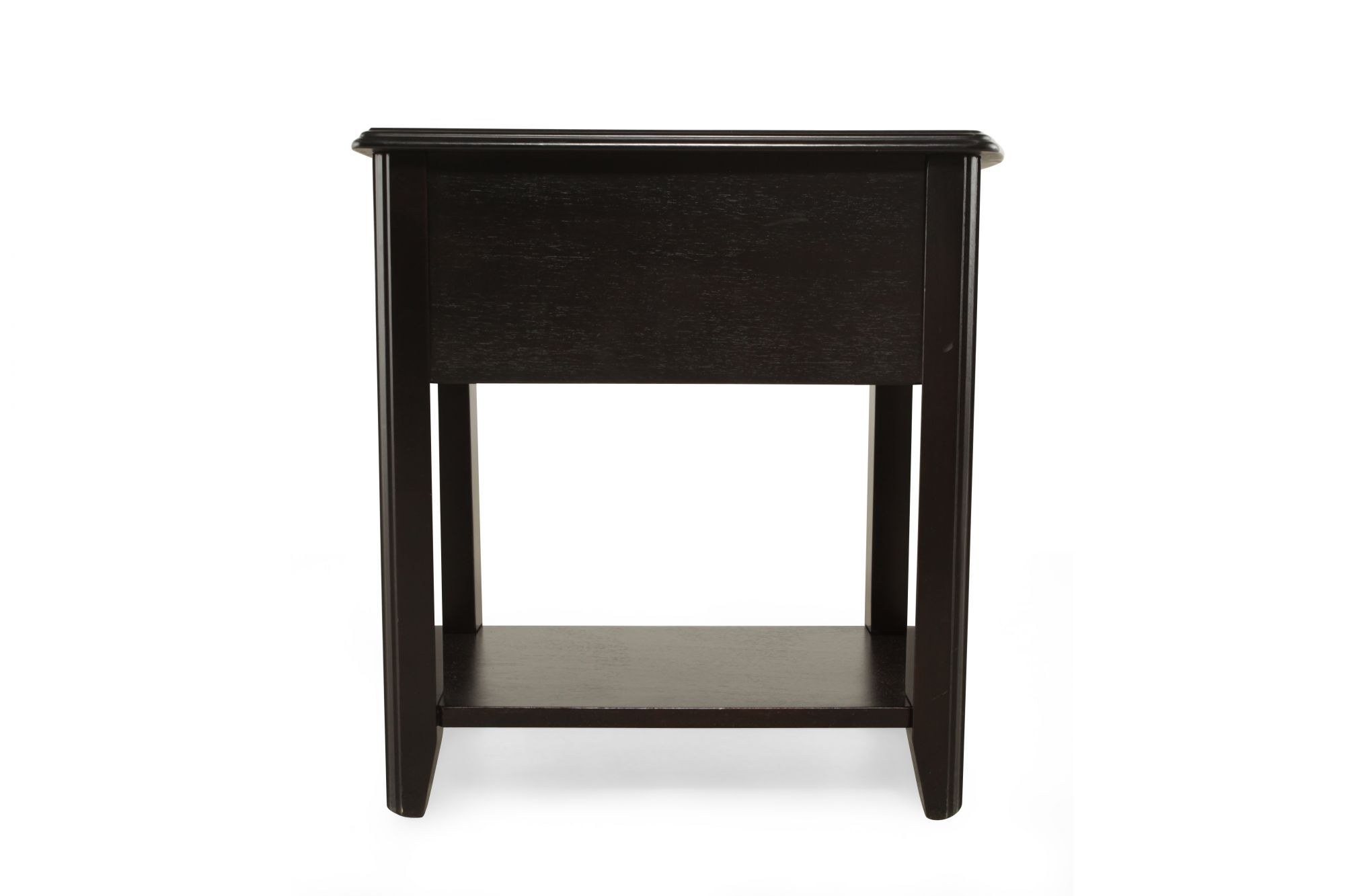 Modern Chairside Table Open Shelf Contemporary Chairside Accent Table In Black