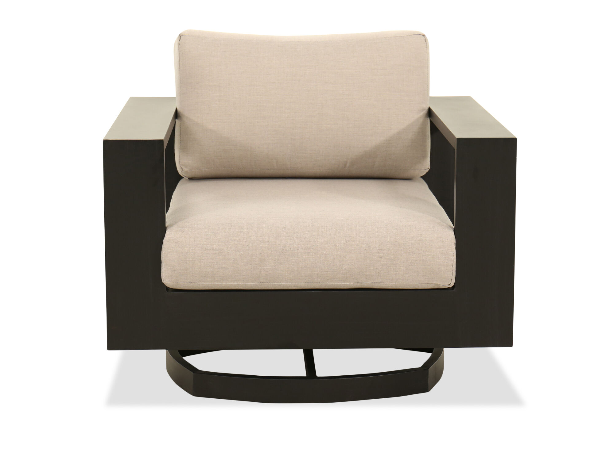 Modern Aluminum Swivel Chair In Black Mathis Brothers Furniture