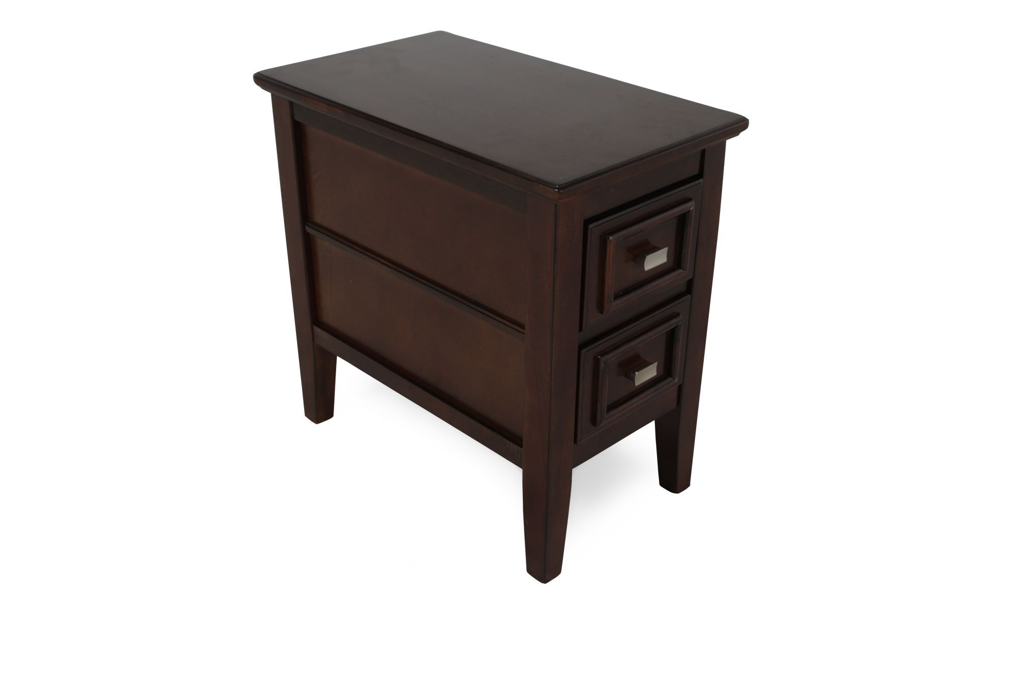 Modern Chairside Table Rectangular Contemporary Chairside End Table In Deep