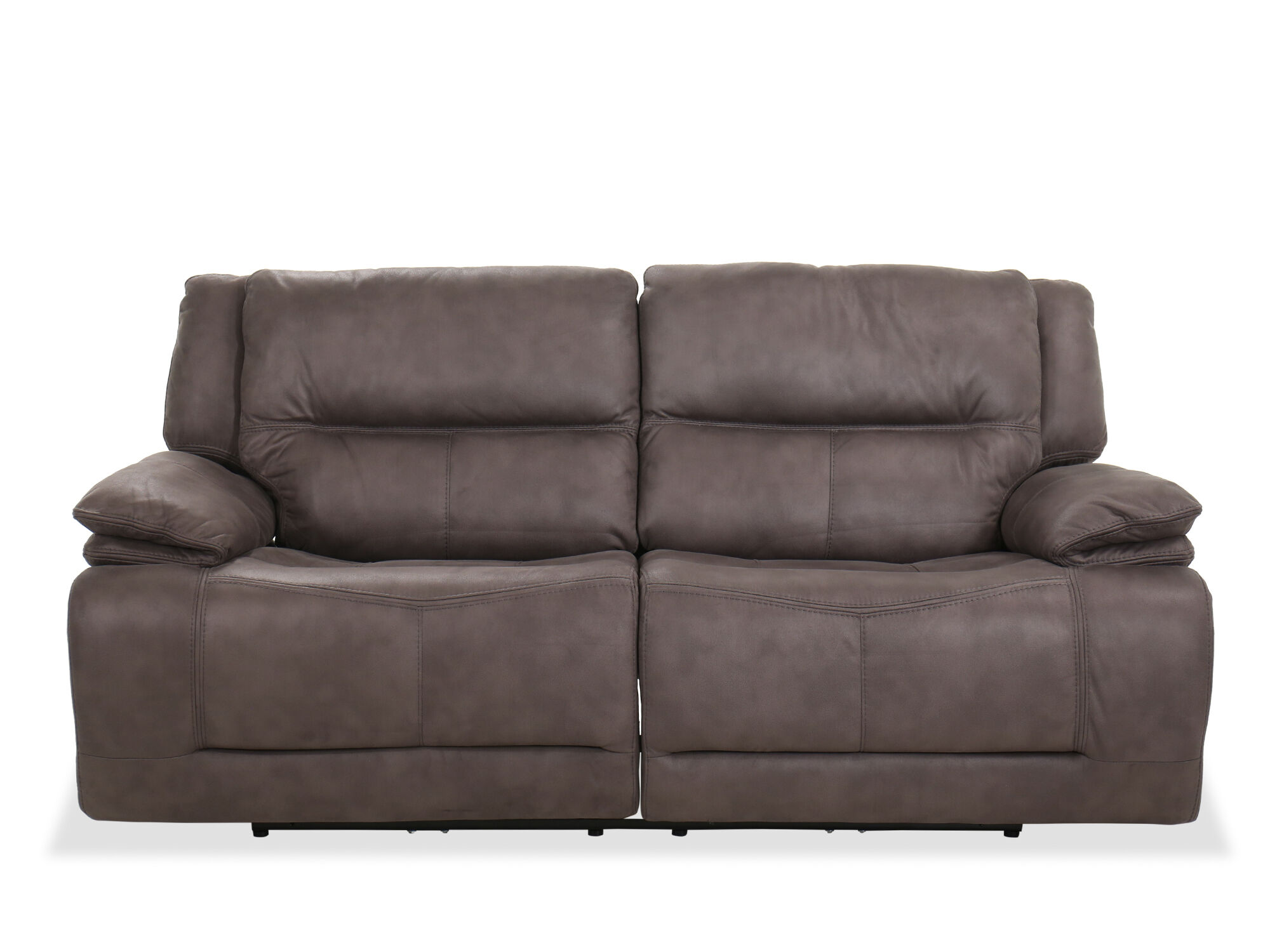 Contemporary Power Reclining Sofa In Gray Mathis Brothers Furniture