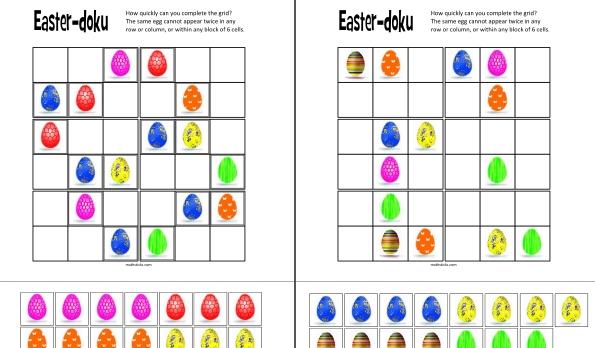 Easter Sudoku mathsticks