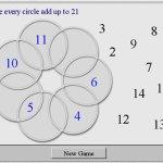 Circles adding to 21 - NLVM