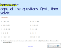 Adding Subtracting Rational Numbers Worksheet - math 9 ...