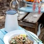 אטריות סובה עם חמאת בוטנים