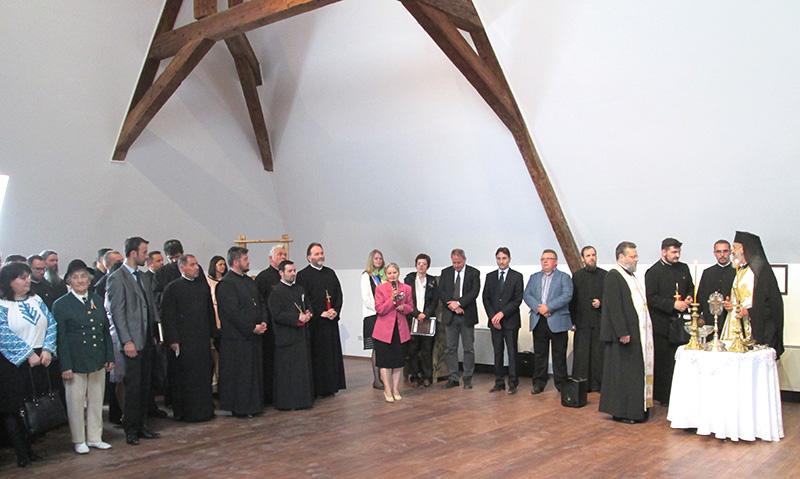 La inaugurarea muzeului au participat personalități locale, dar și fețe bisericești