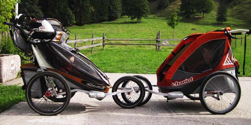 Fahrradanhänger statt Kinderwagen: Chariot/Thule im Dauertest