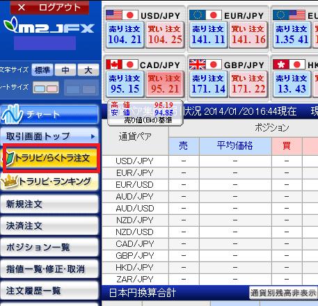 マネースクウェアジャパンのキャンペーン取引手順その1