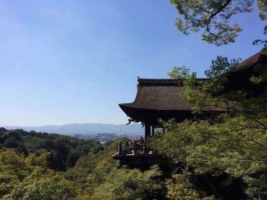 清水寺から見える京都の市街地