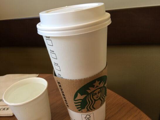 スターバックスのドリップコーヒー(Ventiサイズ)