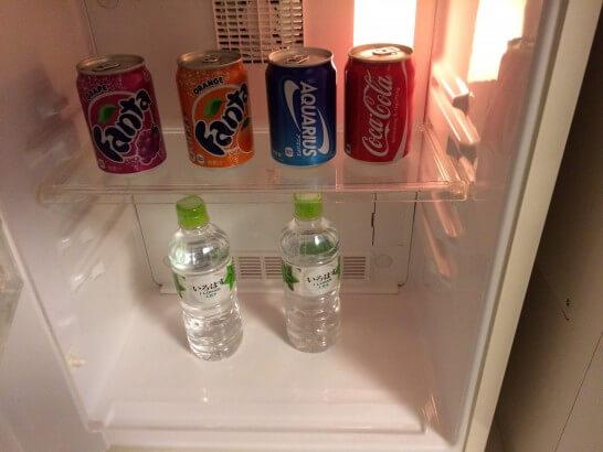 ヒルトン東京ベイの部屋の冷蔵庫