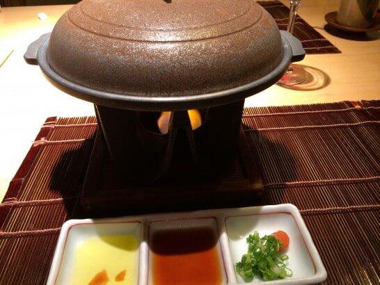 界伊東の夕食の焼き物