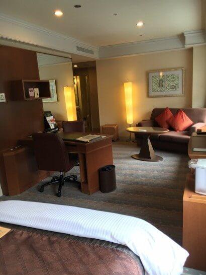 部屋のアップグレードがあったホテルの客室