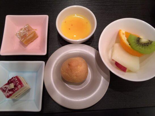 休暇村奥武蔵の夕食のデザート