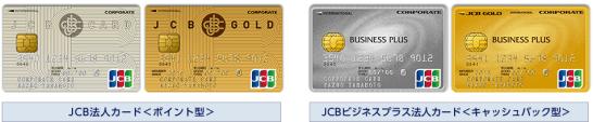 JCB法人カードのポイント型とキャッシュバック型