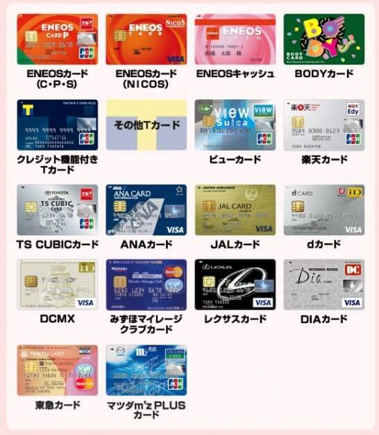 ENEOSでTカードと併用できないカード