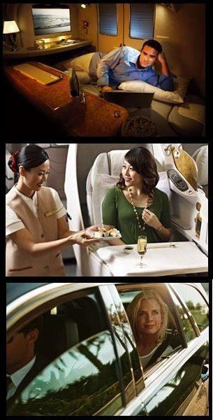 エミレーツ航空のファーストクラス・ビジネスクラス