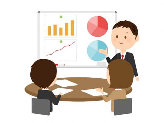 ビジネスの会議のイラスト