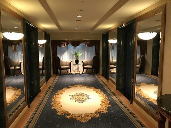 ウェスティンホテル東京のエレベーターホール