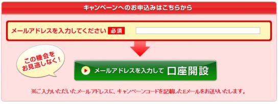 キャンペーンの申込みページ
