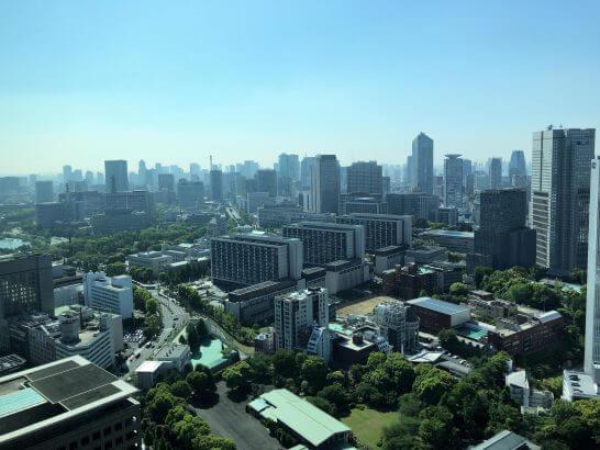 ザ・プリンスギャラリー 東京紀尾井町のクラブラウンジからの眺め(朝食時)