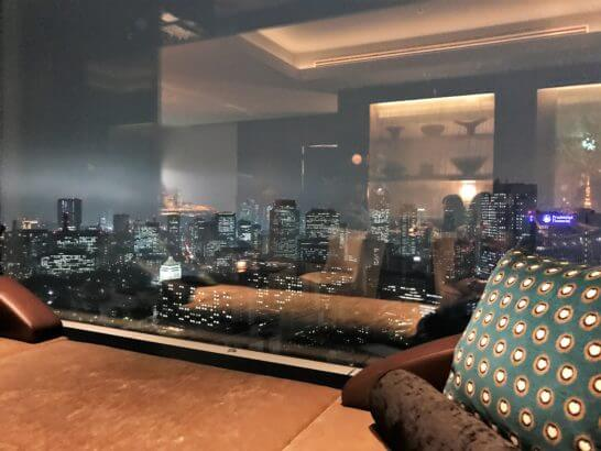ザ・プリンスギャラリー 東京紀尾井町のクラブラウンジの夜景