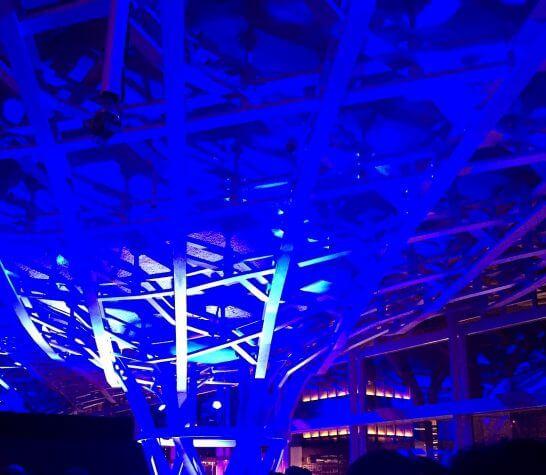 オメガの60周年記念イベントの会場