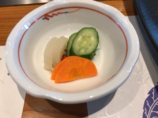 帝国ホテル東京の嘉門の漬物