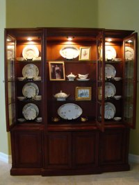 The Art of Accessorizing a China Cabinet - Matt and Shari
