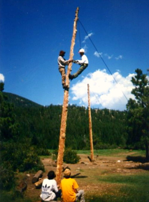 Spar Pole Climbing at Crater Lake in 1996
