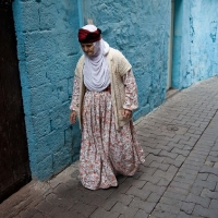 Kurdish woman in white