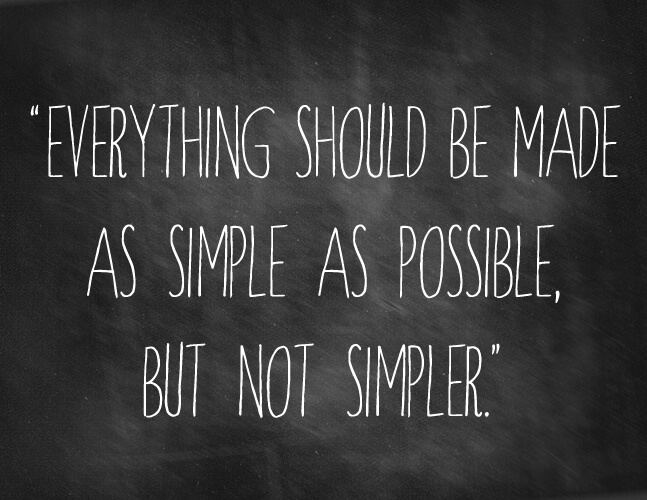 5 Uber-Basic Ways to Simplify Your Next Creative Project - MatternCo - simplify quote