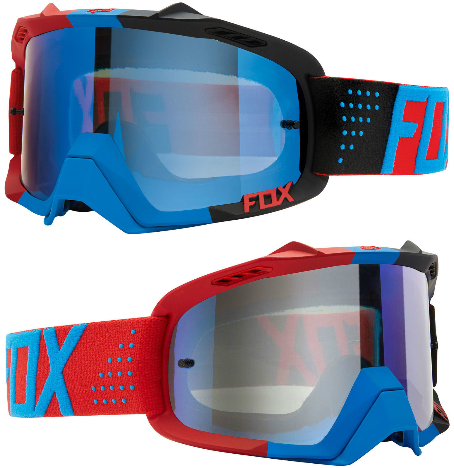Red Libra Fox Air Defence Motocross Mx Goggles Libra Blue Red Blue