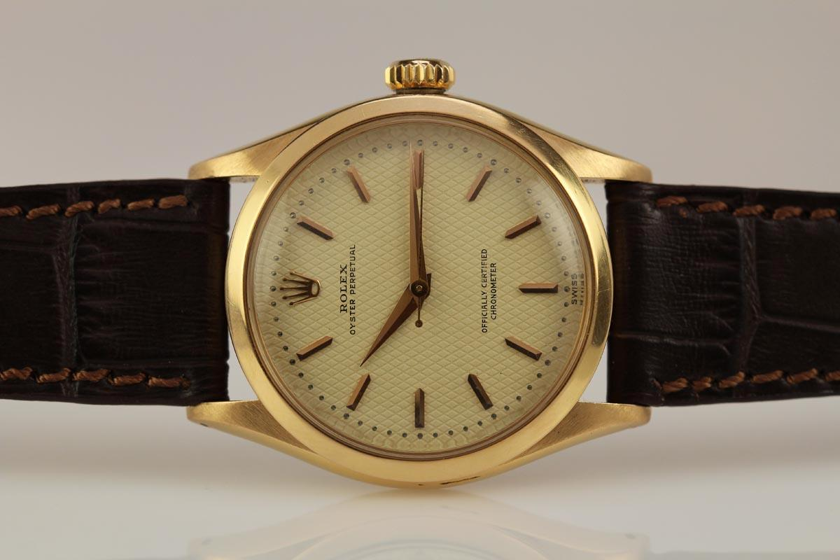 Rolex Oyster Perpetual Rose Gold 1952 Rolex Chronometre Ref 6284 Watch For Sale - Mens