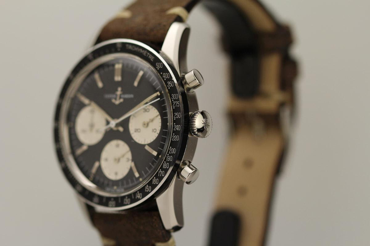 Stainless Rolex 1960 Ulysse Nardin Chronograph Watch For Sale - Mens