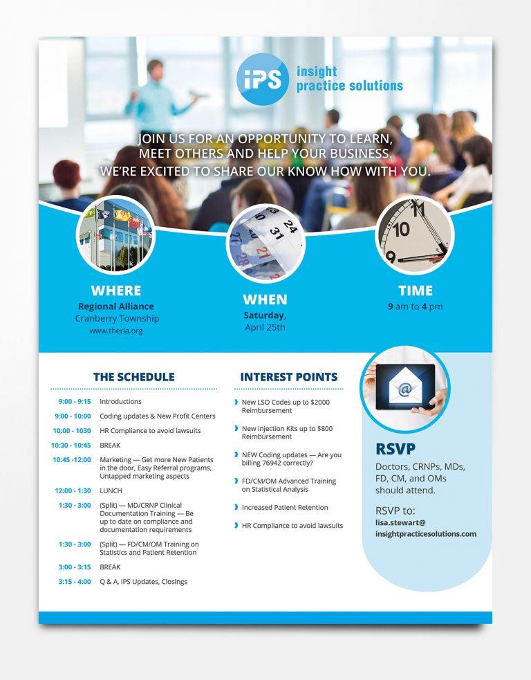 Insight Practice Solutions Seminar Flyer