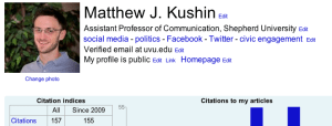 Click to enlarge. A look at my Google Scholar Profile