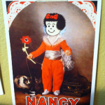 Card announcing the release of Joe Brainard's Nancy Book